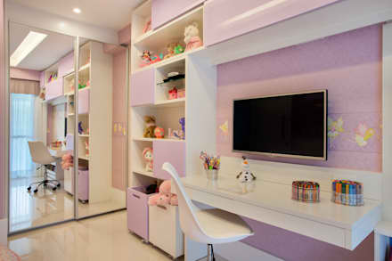 Quarto de menina: Quarto infantil  por Amanda Miranda Arquitetura