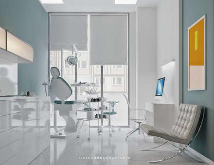 Дизайн стоматологической клиники в Баку: Кабинеты врачей в . Автор – ILKINGURBANOV Studio