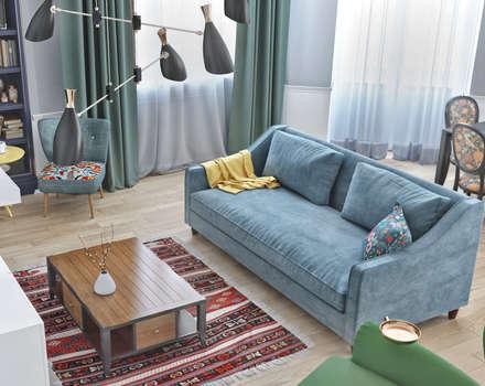 Дизайн гостиной комнаты в Баку: Гостиная в . Автор – ILKINGURBANOV Studio