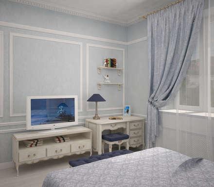 Интерьер спальни для мальчика: Ванные комнаты в . Автор – Yurov Interiors