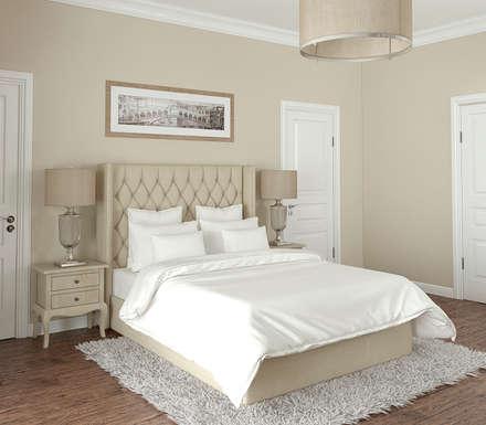 ห้องนอน by Yurov Interiors
