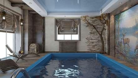 бани и бассейны: Бассейн в . Автор – архитектор-дизайнер Алтоцкий Михаил (Altotskiy Mikhail)