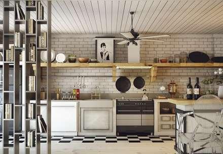 Cocinas de estilo escandinavo por Nuevo Tasarım