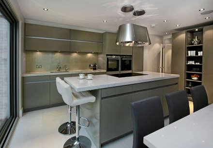 Grey Kitchen With Island Modern By Elan Kitchens