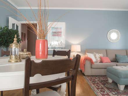 Apartamento em Sintra: Salas de jantar modernas por MUDA Home Design