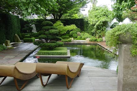 Gartengestaltung Unter Anwendung Der Japanischen Gartenkunst: Ausgefallener  Garten Von Japan Garten Kultur