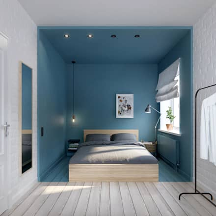 scandinavian Bedroom by INT2architecture