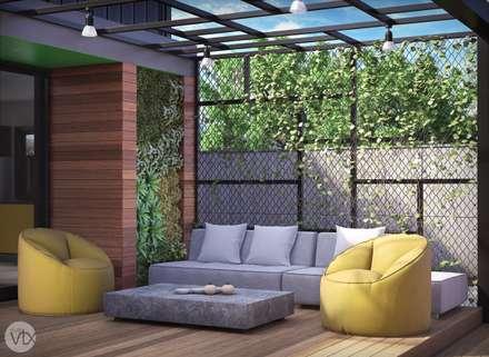 estar externo - casa SP: Jardins industriais por studio vtx