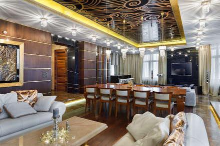 APPARTAMENTO PRIVATO – S. Pietroburgo: Sala da pranzo in stile in stile Asiatico di RobertoStracciaStudio