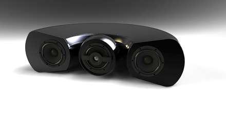 Diffusore a 3 vie con sezione medio-alta coassiale.: Sala multimediale in stile  di Zappata and Partners