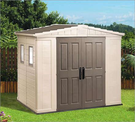Garden shed design ideas inspiration pictures homify for Caseta jardin pvc