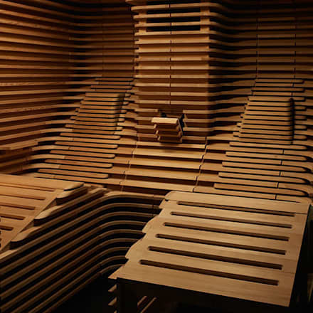 Spa de estilo minimalista por Barefoot Design