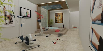 mediterranean Gym by CANSEL BOZKURT  interior architect