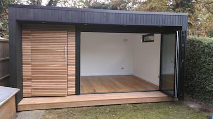 Garden Studio with storage: modern Study/office by Office In My Garden