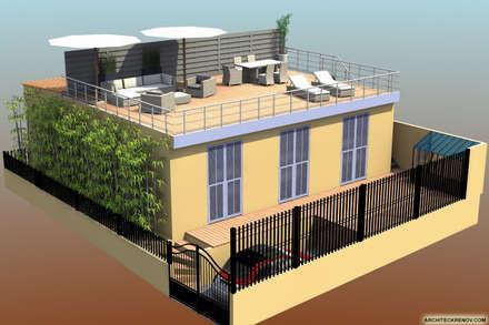 Terrasse & toit-terrasse 140 m²: Terrasse de style  par ARCHITECKRENOV