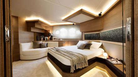MCY _ 76: Yacht & Jet in stile in stile Minimalista di  roberta mari