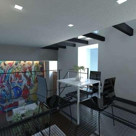 Loft G progetto: Cantina in stile in stile Minimalista di gk architetti  (Carlo Andrea Gorelli+Keiko Kondo)