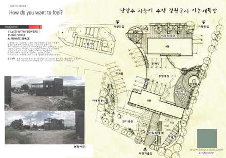 남양주 사능리 자전거도로 휴게소 site plan: Urban Garden AIN.Ltd의  정원