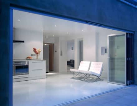 Glas-Faltwand SF 75, Projekt England:  Fenster von SUNFLEX Aluminiumsysteme GmbH