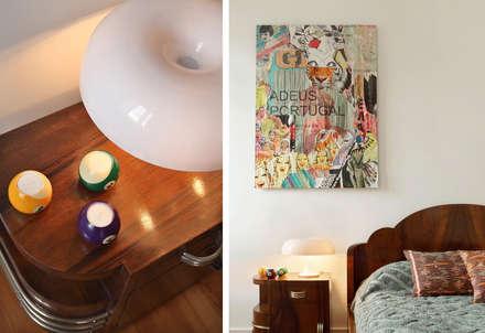 Apartamento A3_Reabilitação Arquitectura + Design Interiores: Quartos ecléticos por Tiago Patricio Rodrigues, Arquitectura e Interiores