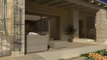 AC House - Vista Esterna: Case in stile in stile Mediterraneo di De Vivo Home Design