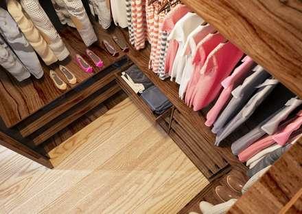 غرفة الملابس تنفيذ Sikora Wnetrza