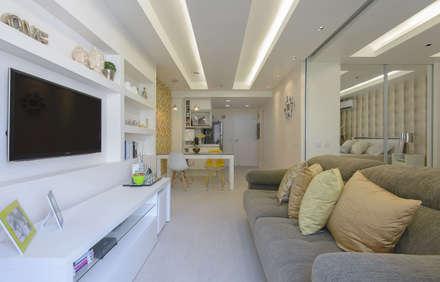 Apartamento Integrado: Salas de estar modernas por fpr Studio