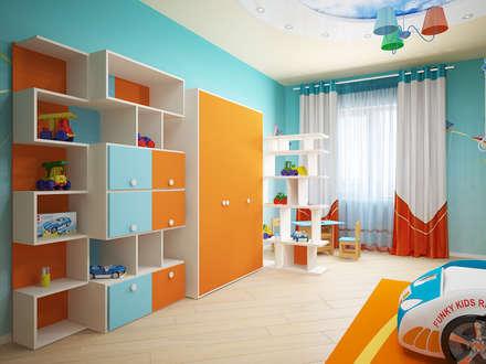 modern Nursery/kid's room by Мастерская дизайна ЭГО