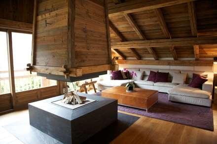 Chalet Chardon - salon: Salon de style de stile Rural par shep&kyles design