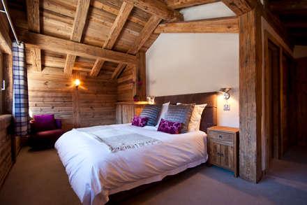 Chalet Les Chantéls: chambre 4: Chambre de style de stile Rural par shep&kyles design