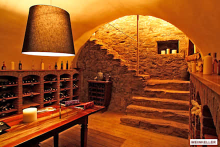 rustic Wine cellar by Architekturbüro Hans-Jürgen Lison