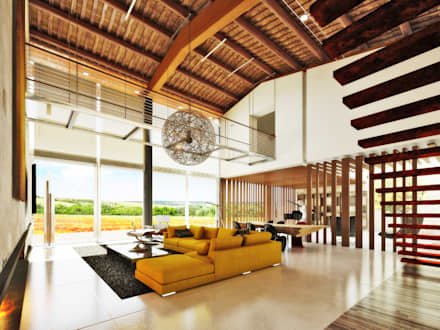 Ristrutturazione Casale LN : Soggiorno in stile In stile Country di DFG Architetti