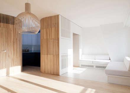Appartement N°4: Salon de style de style Scandinave par Julien Joly Architecture