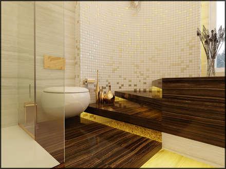 Nuevo Tasarım – Suit banyo: modern tarz Banyo