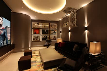 U2 Can Have a Home Cinema Like This: modern Media room by Finite Solutions