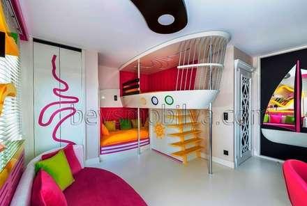 minimalistic Nursery/kid's room by Akabe Mobilya San ve Tic. Ltd. Şti
