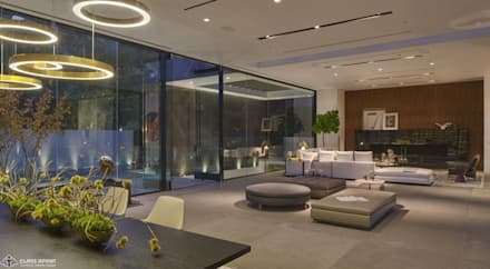 private residence -dramatic glass home : modern Dining room by CLASS APART (furniture.interiordesign)