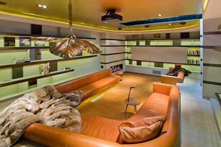 Warwick Place: eclectic Media room by Will Eckersley