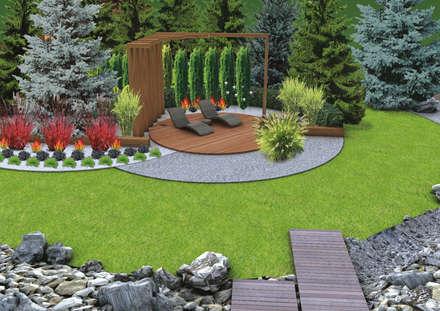 Projekt tarasu i pergoli - Wersja 2.: styl , w kategorii Ogród zaprojektowany przez UNICAT GARDEN