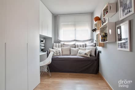 Sant Feliu: Dormitorios infantiles de estilo escandinavo de Dröm Living