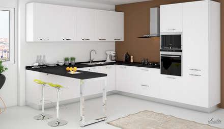 Render cucina - progetto Geom. Antonio Santoro : Cucina in stile in stile Moderno di Santoro Design Render