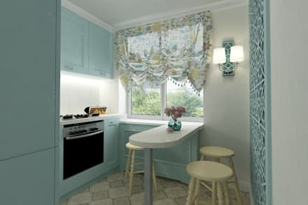 Бирюза и кружева: Кухни в . Автор – Алёна Демшинова