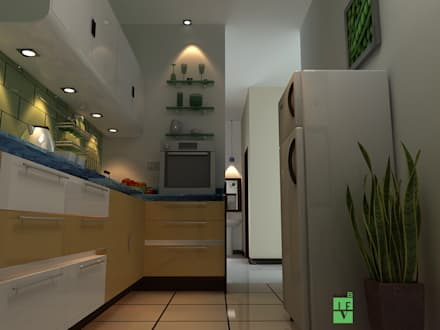 kitchen: minimalistic Kitchen by 3F Architects