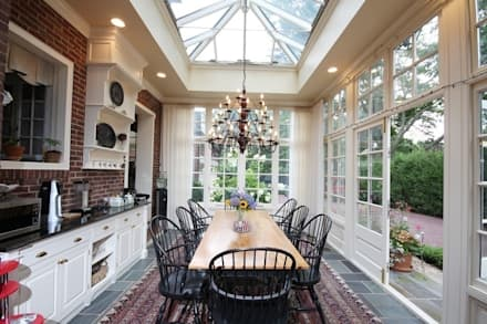 Hardwood Orangery: classic Conservatory by Hampton Windows