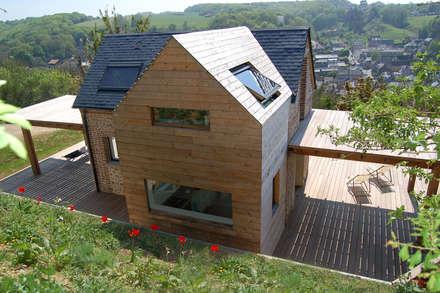 Maison V.W. - Extérieur: Maisons de style de style Moderne par Franklin Azzi Architecture