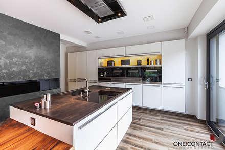 ORT DER RUHE: moderne Küche von ONE!CONTACT - Planungsbüro