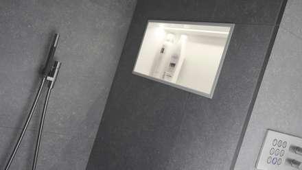 Groots douchen - Sneek: minimalistische Badkamer door Studiodoccia.