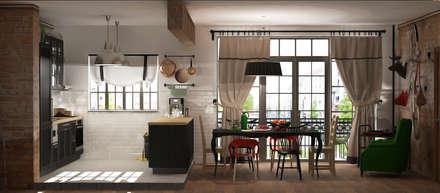 Квартира в Берлине: Столовые комнаты в . Автор – AnARCHI