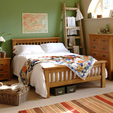 Oakland 4ft 6 double bed country bedroom by the cotswold company