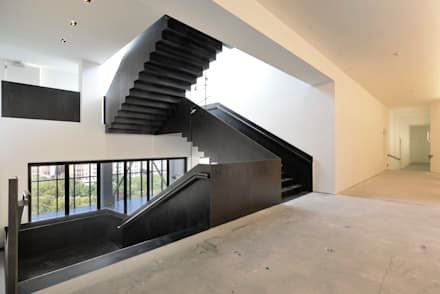 50 Varick street,  stairs made in italy: Sedi per eventi in stile  di Interbau
